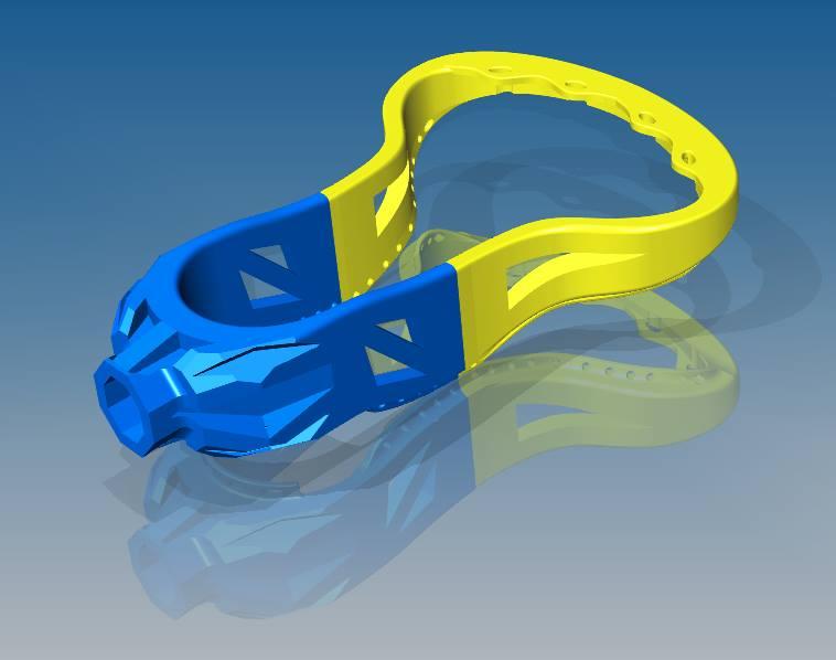 3D-modell till tillverkning av lacrosseklubbor