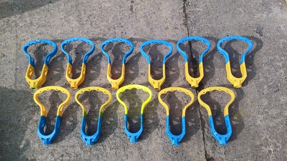 lacrosseklubbor gjorda av 3D-utskrifter
