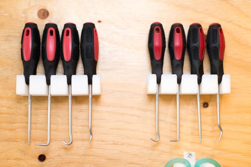 3D-utskriven hållare för skruvmejslar