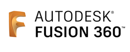 Logo of the 3D-modeling software Autodesk Fusion 360