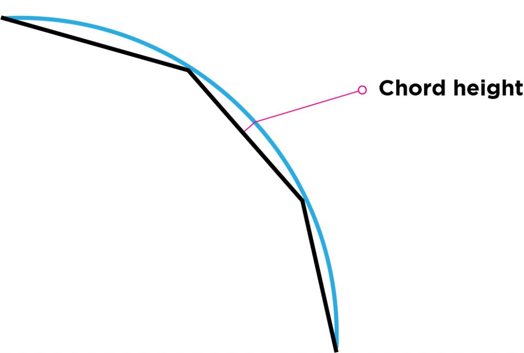 Chord height illustration